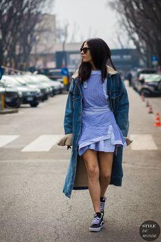 Gilda Ambrosio Street Style Street Fashion Streetsnaps by STYLEDUMONDE Street Style Fashion Photography