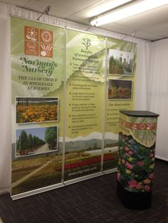 Have an 8ft trade show booth, but not quite sure how to fill it? Here's a great idea...combine 3 retracting banner stands, then add a graphic podium and lights and VIOLA! You're ready to show off all your company has to offer and be a success at your next trade show. Contact us today at 800-723-2050 or visit our website www.AffordableDisplays.com to see how we can help!