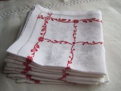Absolutely gorgeous set of 8 French vintage by FrenchVintageLinens, £20.00
