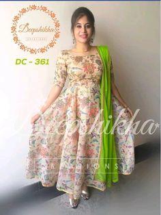 Kurta Designs Women, Kurti Neck Designs, Dress Neck Designs, Blouse Designs, Kalamkari Dresses, Ikkat Dresses, Long Gown Dress, Saree Dress, Dress Skirt