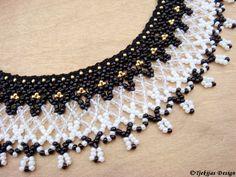Greenland Beadwork Necklace Collar - original old pattern