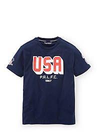 Ralph Lauren Childrenswear Short Sleeve Graphic Tee Boys 8-20