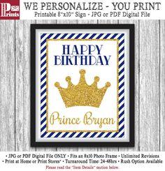 Prince Party Sign Printable Prince Birthday Party por PuggyPrints