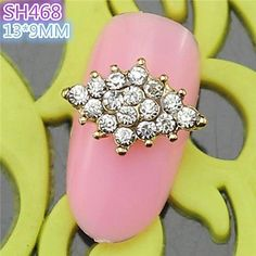 QINF 10PCS SH468 Special Design Luxury Rhinestone 3D Alloy nail art DIY Nail beauty Nail Decoration Nail Salon ** You can find out more details at the link of the image.