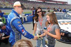 Parker Kligerman greets fans pre race