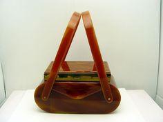 Vintage Wilardy 2 Tier Makeup/Cigarette Case Lucite Faux Tortoise Shell Purse #Wilardy #Box