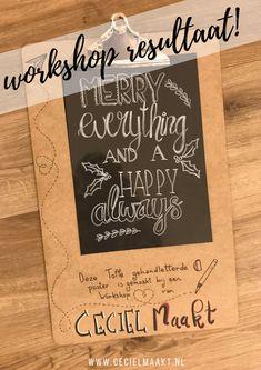 Veronique maakten deze winter quote in een workshop handlettering & raamtekening gegeven door Ceciel Maakt.  #raamtekening #workshop #handlettering #krijtstift Workshop, Merry, Winter, Cover, Happy, Books, Winter Time, Atelier, Libros