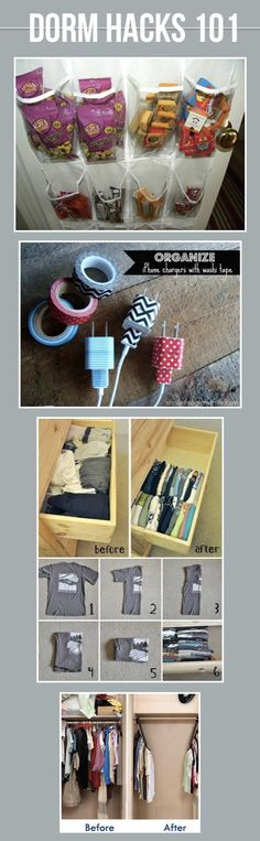 Click to see 19 Must Know Dorm Hacks to Make Your College Life a Little Bit Easier!: