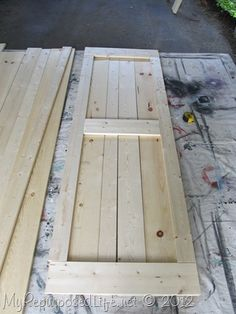 My Repurposed Life-how to: DIY Faux Barn Doors