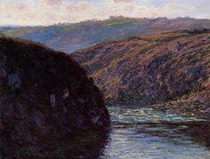 Клод Моне - Valley of the Creuse, Afternoon Sunlight, 1889. Клод Оскар Моне