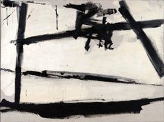 Action painting - Franz Kline, Painting Number The Museum of Modern Art Franz Kline, Action Painting, Painting Lessons, Painting Art, Heart Painting, Tachisme, Willem De Kooning, Jackson Pollock, Guernica