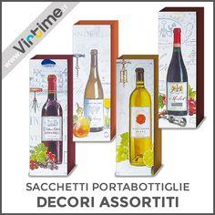 Sacchetti Portabottiglie da regalo in carta in 4 decori assortiti. Confezione: Buste Trasparenti Dimensioni: 35 x 12 x 10 cm Ref.: S14016/00  #Virtime #VirtimeClock #VirtimeHome #QuadroOrologio #OrologiDaParete #NovateMilanese #SacchettiRegalo #IdeeRegalo #Love #giftbags #gift #natale #xmas #bottle #wine