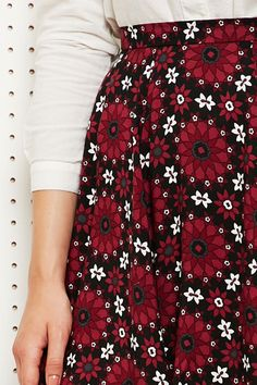 Cooperative Skater Skirt in Floral Print at Urban Outfitters