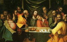 Peter Candid (1548 – 1628) -   The Last Supper, oil on canvas (105 × 168 cm) —…