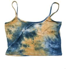 Tie Dye Ladder Back Crop Top from Papers Peonies ($9) ❤ liked on Polyvore featuring tops, crop tops, tank tops, shirts, tye die shirts, tie dye tank, crop top, tie-dye shirts and tie dye tank tops