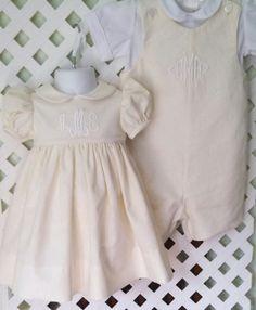 Boy Girl Twins or Brother Sister Christening/ Baptism 4 Piece Set