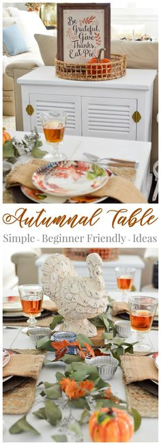 Autumnal tablescape table decorating ideas for fall and Thanksgiving ...