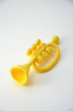 Patrón de trompeta de ganchillo . por VliegendeHollander en Etsy