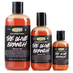 LUSH - The Olive Branch Shower Gel- Mandarin shower gel with skin-softening olive oil