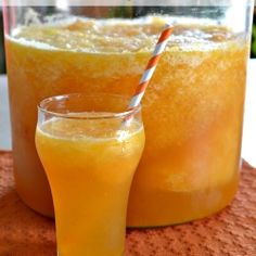 Sparkling Peach Slush Punch recipe