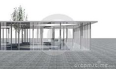 Google Image Result for http://thumbs.dreamstime.com/x/futuristic-architecture-conceptual-modern-building-clear-glass-columns-white-backgrou...