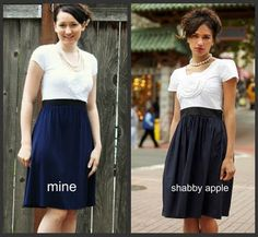 shabby apple knock off from a t-shirt and a maternity dress!