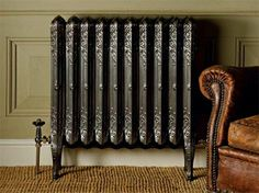 Restored cast-iron radiator by The Old Radiator Company Old Radiators, Column Radiators, Cast Iron Radiators, Restore Cast Iron, Period Living, Home Design Magazines, Unique House Design, Paint Companies, Home