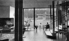 1938-40 Villa Mairea, Noormarkku, Finlandia 2. Alvar y Aino Aalto. Publicado en 1940 Arkitekten manedshæfte XLII -