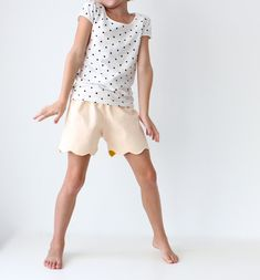 Scalloped + Lined KID SHORTS | MADE