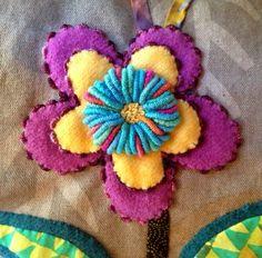 Kerry Stitch Designs, flower embellishment on Enchantment