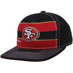 Striped 49ers hat.
