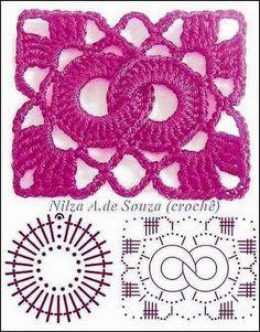 Crochet Patterns Stitches Beautiful crochet samples - with graphics Crochet Motifs, Crochet Blocks, Granny Square Crochet Pattern, Crochet Flower Patterns, Crochet Diagram, Crochet Stitches Patterns, Crochet Chart, Crochet Squares, Crochet Designs