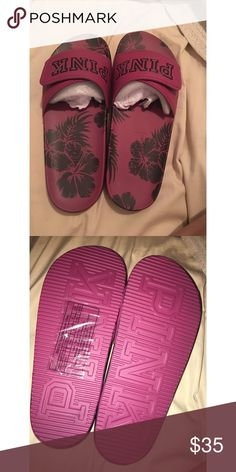 BNWT Crossover slides Never worn (as shown in photos above) BNWT. Size M 7/8 ‼️ PLEASE KEEP IN MIND P O S H  TAKES 20% OF ALL SALES AND EVERYTHING IS PRICED AT MY LOWEST‼️ PINK Victoria's Secret Shoes Sandals