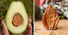 Most People Throw Away Avocado Pits, But This Artist Carves Them Into Magical Forest Creatures | Bored Panda