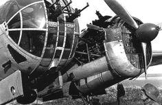 Damaged Soviet bomber, captured by the Germans.