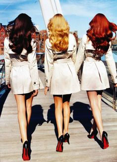 """Cintia Dicker, Andi Muise, and Marina Skopkareva by Tesh for Allure, January 2008 - """"Dreaming in Color"""""""