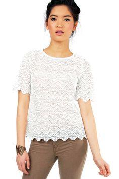 Alani Lace Top $54 at www.tobi.com