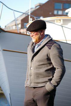 Newcastle Cardigan aus dickem Fleece, mit schicken Farbakzenten
