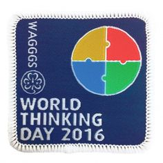 2016 World Thinking Day Cloth Badge (Pack of 25)