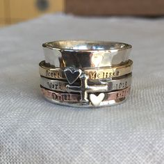 Personalized Family Spinner Ring Customizable by ShesSoWitte