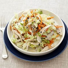 Chinese Chicken-Cabbage Salad With Peanut Sauce:  This healthy salad is perfect for summer or any time. We love how easy it is to prepare. Just toss the ingredients together and enjoy. Get the recipe | Health.com