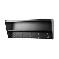 Floating Entryway Shelf & Coat Rack in Black