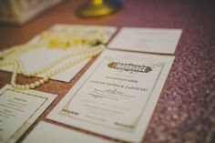 A Black & Gold 1920s Inspired Wedding