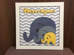 Placa Maternidade Elefante personalizado em mdf a laser tamanho 30 x 30, podemos alterar as cores e o nome.