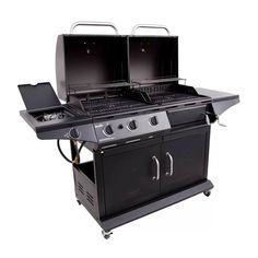 CharBroil Char-Broil 3-Burner Liquid Propane Gas and Charcoal Grill with Cabinet & Reviews | Wayfair