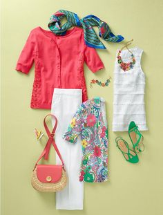 Tropical Flower Necklace - Talbots