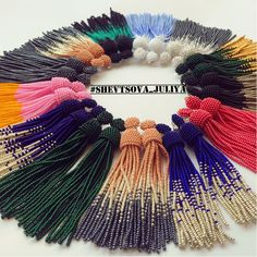 Loom Bracelet Patterns, Bead Loom Bracelets, Jewelry Patterns, Beaded Tassel Earrings, Seed Bead Earrings, Bead Embroidery Jewelry, Beaded Embroidery, Bead Crochet Rope, Beading Projects