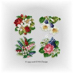 """Set"""" Floral Collection"""" - Vol. 2 (4 motifs)"""