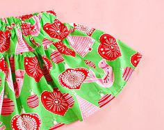 Christmas Skirt Twirl Christmas Infant Toddler Fabric Nordic Ornament 0/6 6/12 12/18 18/24 2T 3T 4T