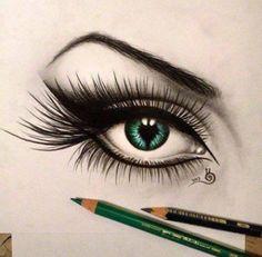 Eye. Drawing.